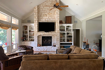 Living spaces by Advanced Carpet & Interiors in Waco, Texas