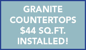 Granite Countertops $44 sq.ft. installed!