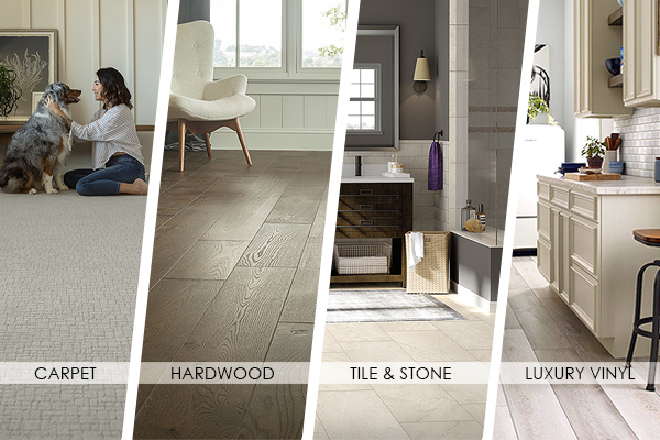 Save on carpet, hardwood, tile & stone & luxury vinyl this month!